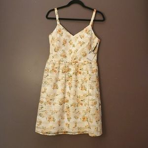 Sundress with floral print.